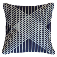 Bandhini Homewear Design Lounge Cushion Navy / Primitive / 22 x 22 Paraglide Navy Lounge Cushion 55 x 55 cm