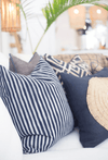 Bandhini Homewear Design Lounge Cushion Navy / Naval Sea / 22 x 22 Shoowa Arrow Navy Lounge Cushion 55 x 55 cm