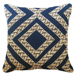 Bandhini Homewear Design Lounge Cushion Navy / 22 x 22 Shoowa Diamond Navy Lounge Cushion 55 x 55 cm