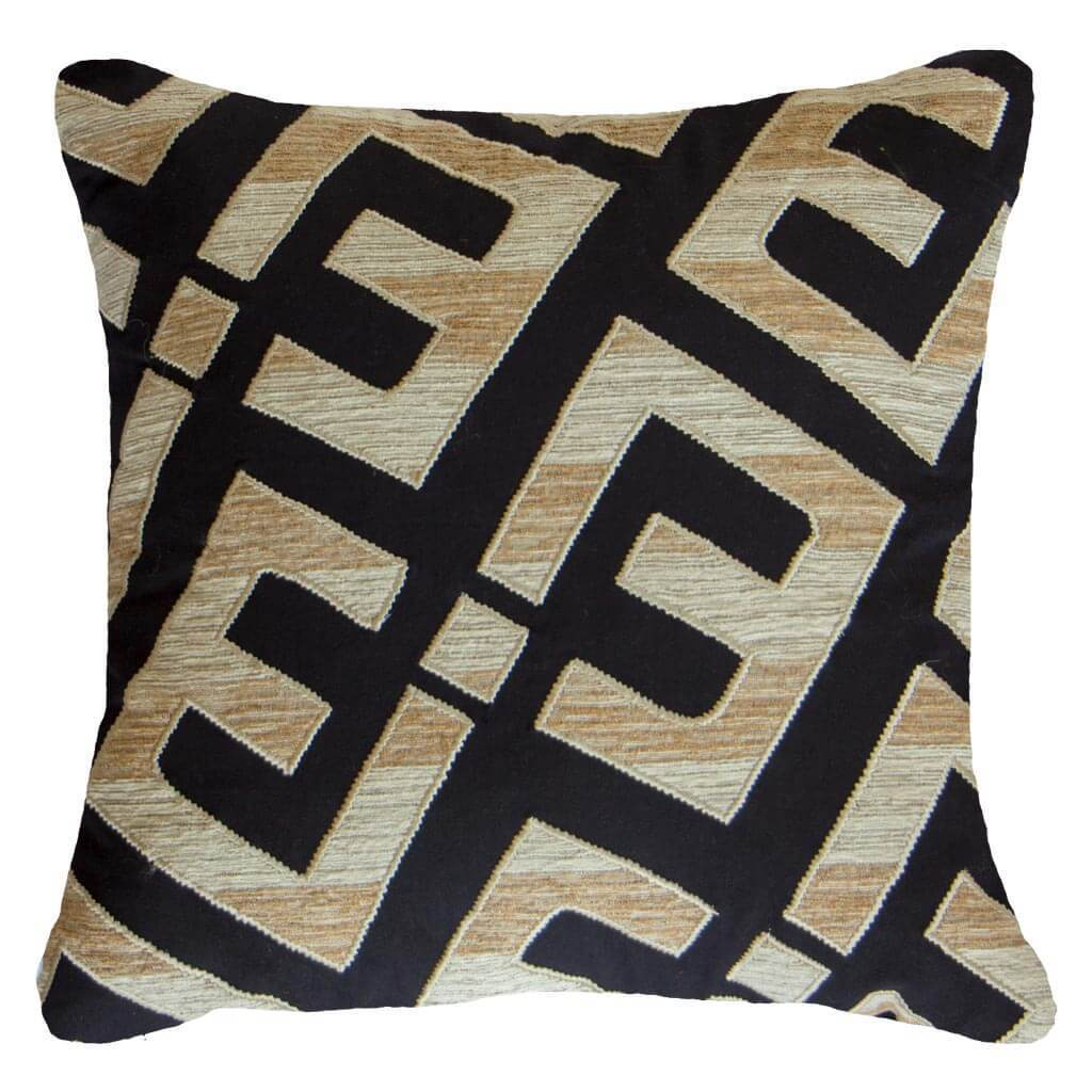 Bandhini Homewear Design Lounge Cushion Navy / Primitive / 22 x 22 Shoowa Kuba E Black Lounge Cushion 55 x 55 cm
