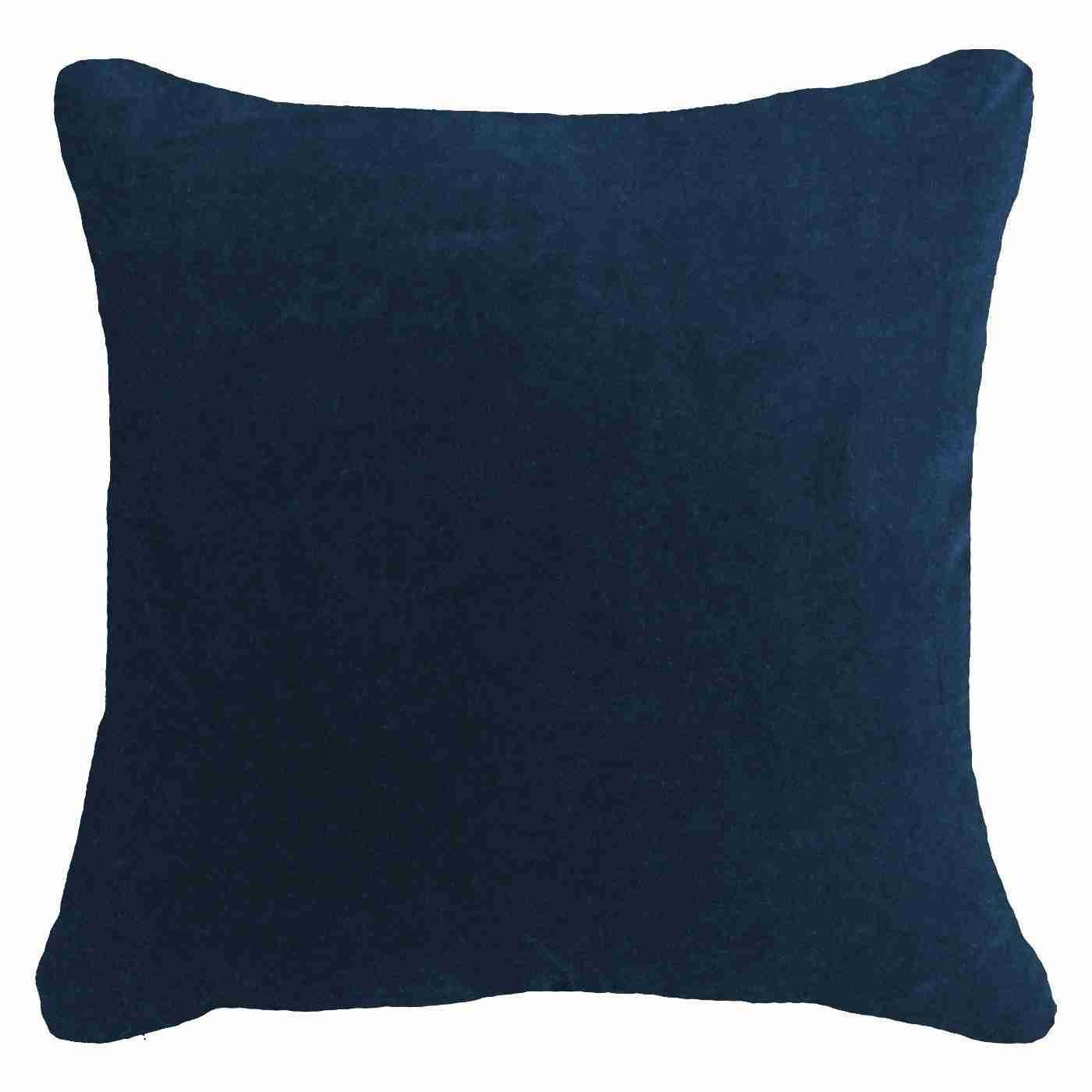 Bandhini Homewear Design Lounge Cushion Navy / 22 x 22 Velvet Navy Lounge Cushion 55 x 55 m