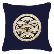 Bandhini Homewear Design Lounge Cushion Navy / 55 x 55 cm Place Mat Fan Cluster Navy Lounge Cushion 55 x 55 cm