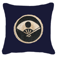 Bandhini Homewear Design Lounge Cushion Navy / 55 x 55 cm Place Mat Fan Navy Lounge Cushion 55 x 55 cm