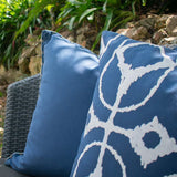 Bandhini Homewear Design Lounge Cushion Navy White / 22 x 22 Outdoor Reverse Storm White Lounge Cushion 55 x 55 cm