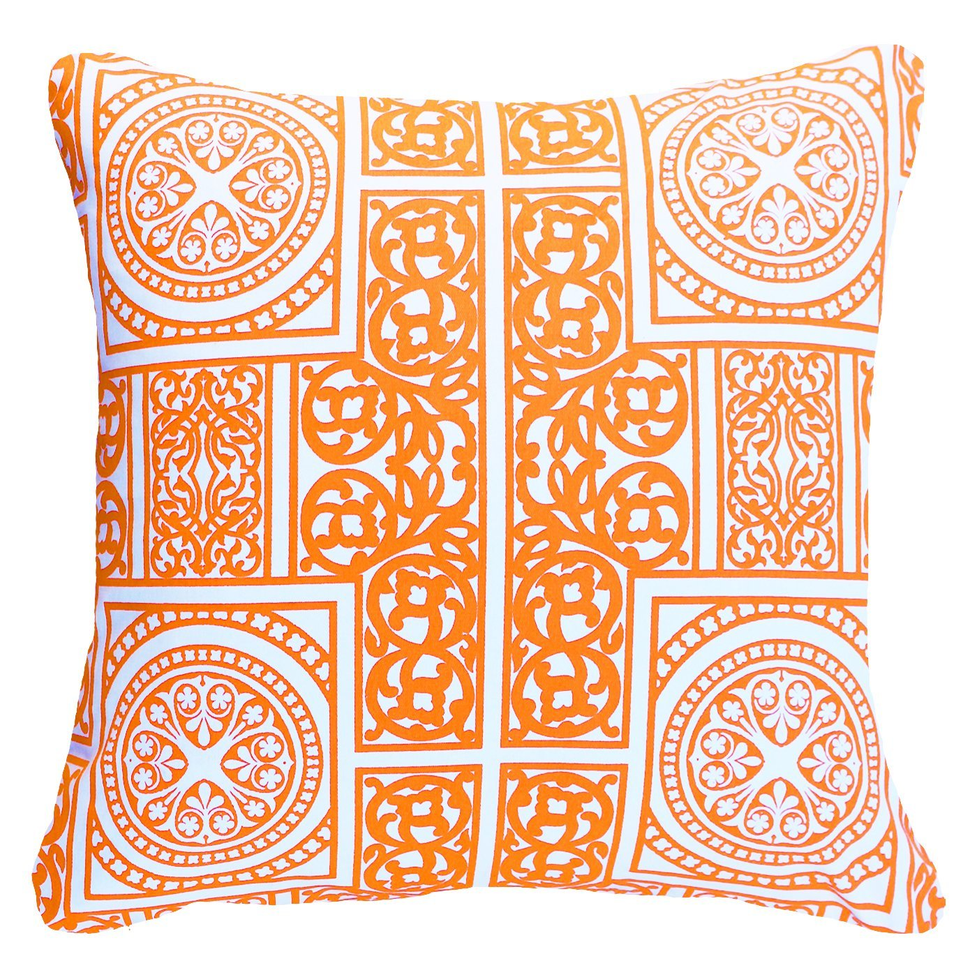 Bandhini Homewear Design Lounge Cushion Orange / 22 x 22 Madrid Orange Lounge Cushion 55x55cm