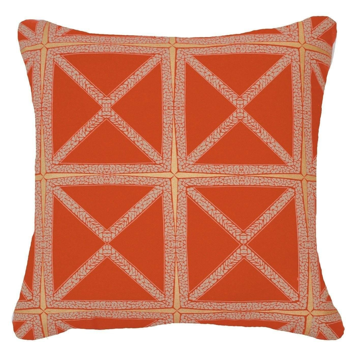 Bandhini Homewear Design Lounge Cushion Orange / Aztec Fire / 22 x 22 Mosaic Rust Lounge Cushion 55x55cm