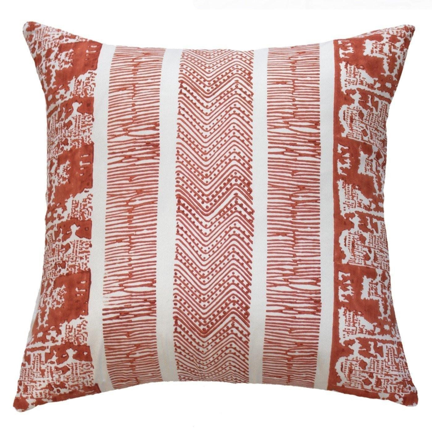 Bandhini Homewear Design Lounge Cushion Orange / Aztec Fire / 22 x 22 Ruin Towers Orange Lounge Cushion 55 x 55 cm