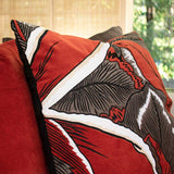 Bandhini Homewear Design Lounge Cushion Rust / 22 x 22 Rake Applique Forest Velvet Rust Lounge Cushion