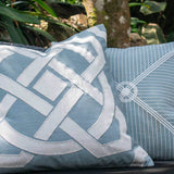 Bandhini Homewear Design Lounge Cushion Storm / 22 x 22 Outdoor Dial Cloud Blue Lounge Cushion 55 x 55 cm