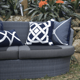 Bandhini Homewear Design Lounge Cushion Storm / 22 x 22 Outdoor Dial Navy Lounge Cushion 55 x 55 cm