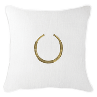 Bandhini Homewear Design Lounge Cushion White / Exotic Light / 22 x 22 Amulet Delhi White Lounge Cushion 55x55cm
