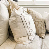 Bandhini Homewear Design Lounge Cushion White / 22 x 22 Dot Frame White Lounge Cushion 55x55cm