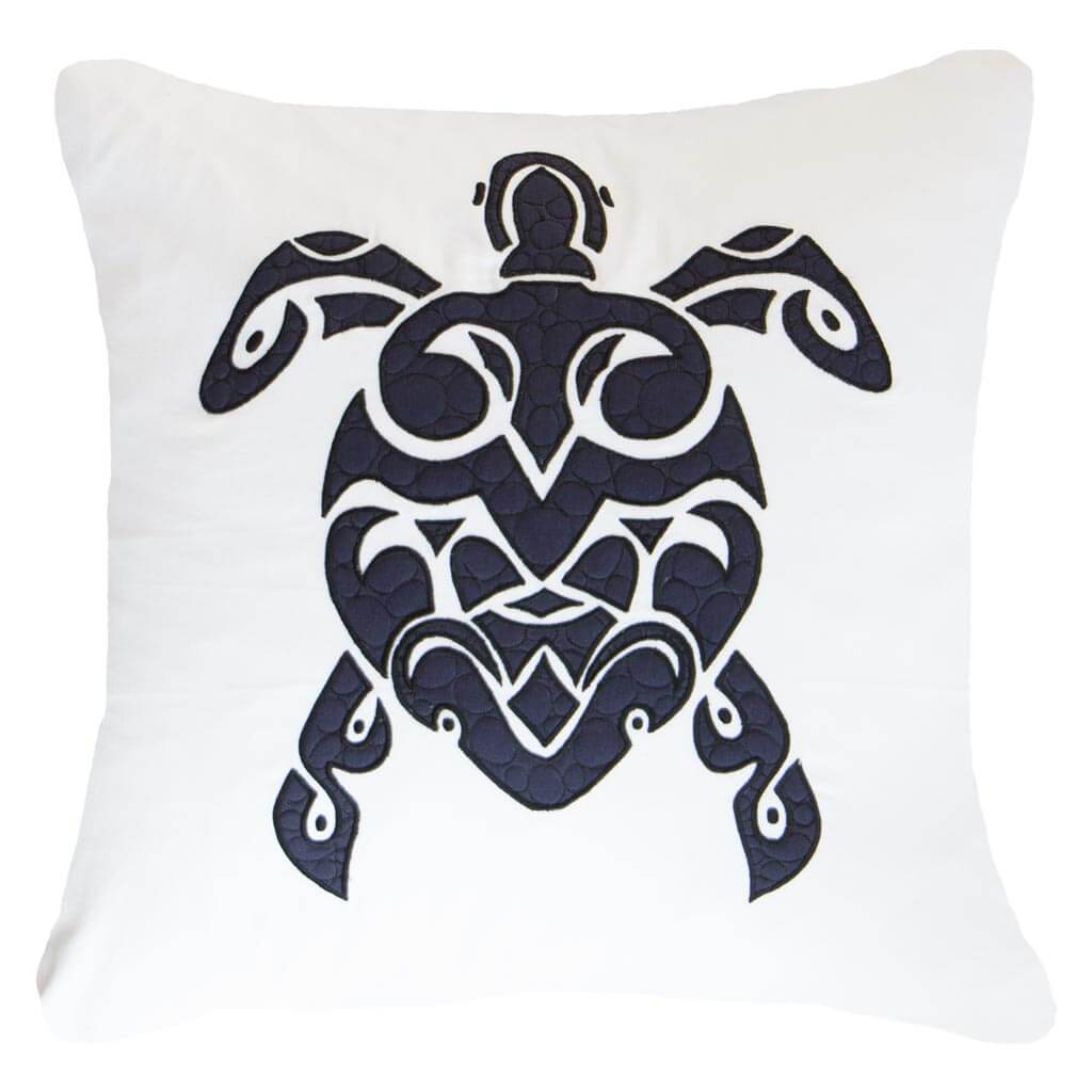 Bandhini Homewear Design Lounge Cushion White / Primitive / 22 x 22 Sea Turtle White Lounge Cushion 55 x 55 cm