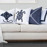 Sea Turtle White Lounge Cushion 55 x 55 cm