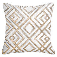 Bandhini Homewear Design Lounge Cushion White / 22 x 22 Shoowa Arrow White Lounge Cushion 55 x 55cm