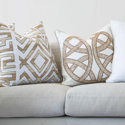Bandhini Homewear Design Lounge Cushion White / 22 x 22 Shoowa Kuba White Lounge Cushion 55 x 55cm
