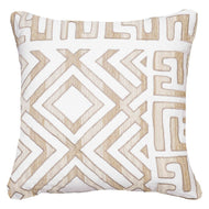 Bandhini Homewear Design Lounge Cushion White / Exotic Dark / 22 x 22 Shoowa Kuba White Lounge Cushion 55 x 55cm