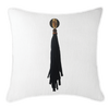 Bandhini Homewear Design Lounge Cushion White / 22 x 22 Tassel Mex on White Lounge Cushion 55 x 55 cm