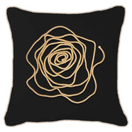 Bandhini Homewear Design Lounge Cushion White / 22 x 22in Bling String on Black Lounge Cushion 55x55cm