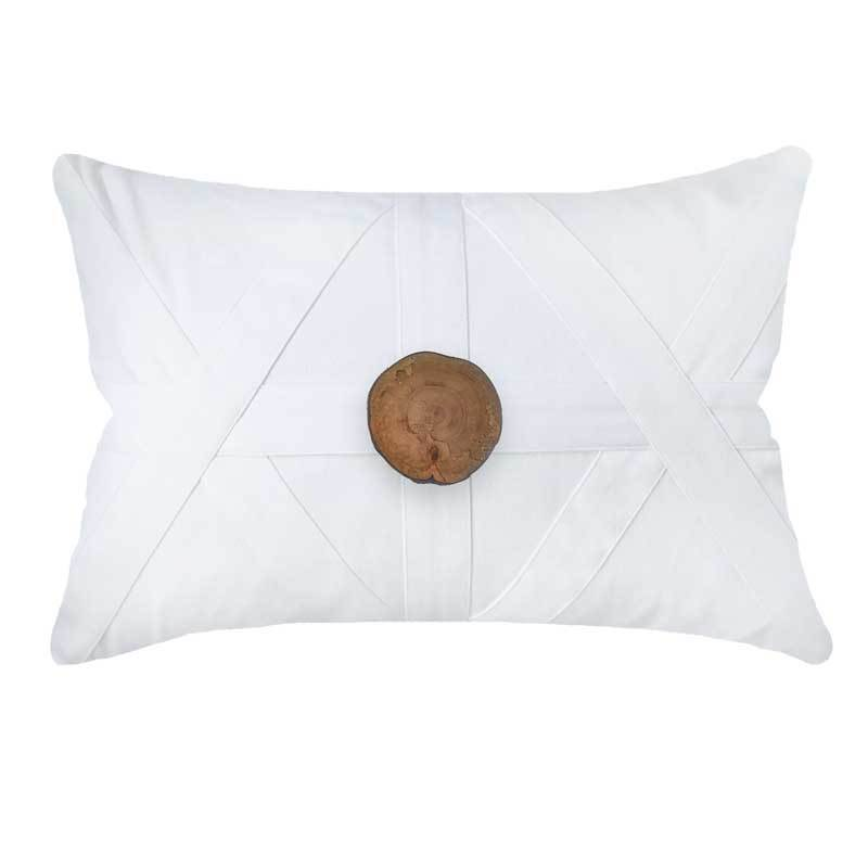 Bandhini Homewear Design Lounge Cushion White / 55 x 55 Wood Slab White Lumber Cushion 55 x 55cm