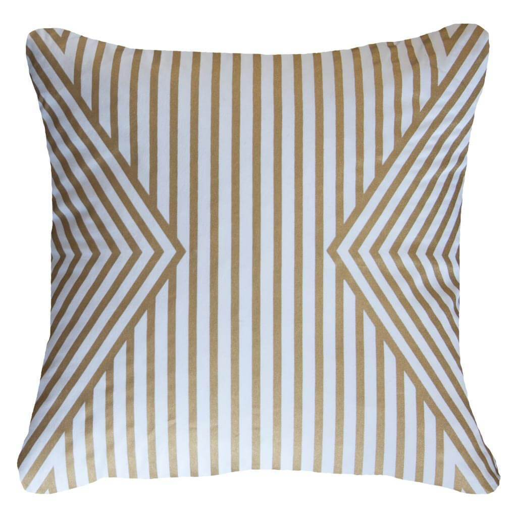 Bandhini Homewear Design Lounge Cushion White Gold / Primitive / 22 x 22 Parasol White Gold Lounge Cushion 55 x 55 cm