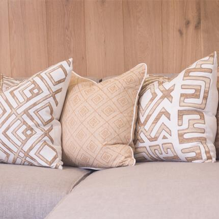 Bandhini Homewear Design Lounge Cushion Wind / 22 x 22 Weave Cross Natural Lounge Cushion 55x55cm