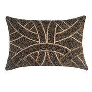 Bandhini Homewear Design Lumber Cushion Black / 14 x 21 Chanel Black Lumber Cushion 35 x53 cm