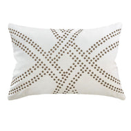 Bandhini Homewear Design Lumber Cushion Black / 14 x 21 Dot Polar White & Titanium Lumber Cushion 35 x 53 cm
