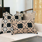 Bandhini Homewear Design Lumber Cushion Black / 14 x 21 Intertwined Black Lumber Cushion 36 x 53cm
