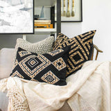 Bandhini Homewear Design Lumber Cushion Black / 14 x 21 Shoowa Diamond Black Lumber Cushion 35 x 53 cm