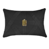 Bandhini Homewear Design Lumber Cushion Black / Primitive / 22 x 22 Amulet Cairo Black Lumber Cushion 35 x 53 cm