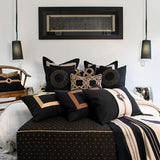 Bandhini Homewear Design Lumber Cushion Black / 35 x 53 Braid Barbados Black Lumber Cushion 35 x 53cm