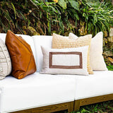 Bandhini Homewear Design Lumber Cushion Braid Barbados Natural Lumber Cushion 35 x 53 cm