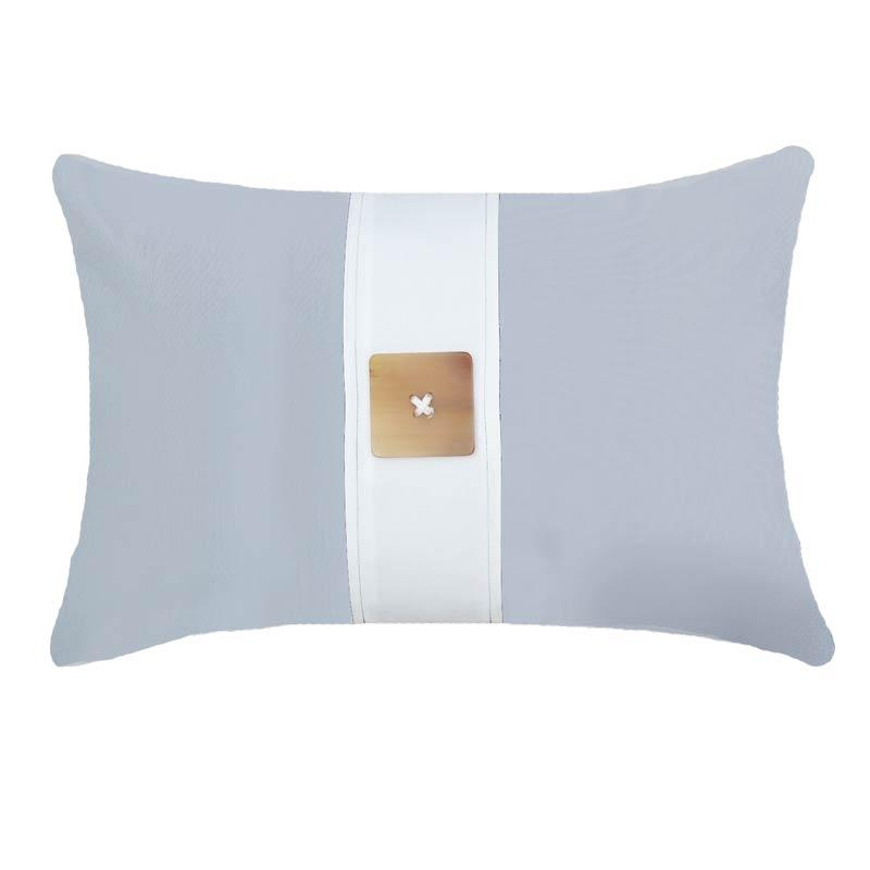 Bandhini Homewear Design Lumber Cushion Cloud / 14 x 21 Outdoor Horn Button Cloud White Lumber Cushion 35 x 53 cm