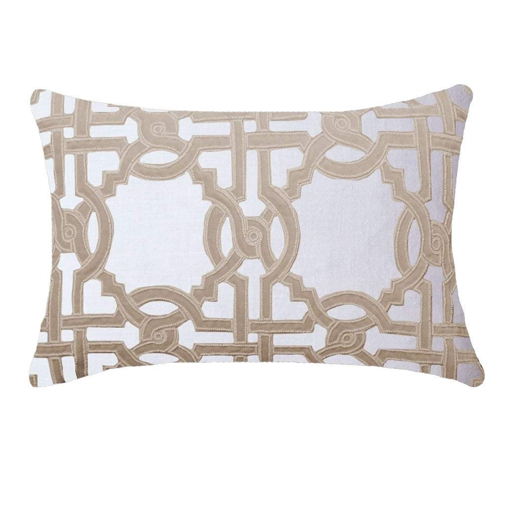 Bandhini Homewear Design Lumber Cushion Natural / Vintage / 14 x 21 Intertwined Natural Lumber Cushion 35x53cm