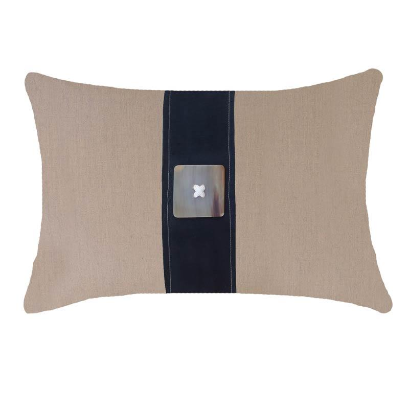 Bandhini Homewear Design Lumber Cushion Natural / 14 x 21 Outdoor Horn Button Natural Black Lumber Cushion 35 x 53 cm