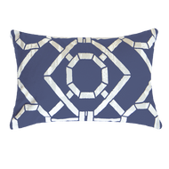 Bandhini Homewear Design Lumber Cushion Navy / 14 x 21 Bamboo Hedge Navy Lumber Cushion 35 x 53 cm