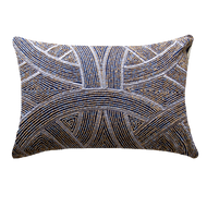 Bandhini Homewear Design Lumber Cushion Navy / Exotic Dark / 14 x 21 Chanel Navy Lumber Cushion 35x53cm