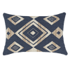 Bandhini Homewear Design Lumber Cushion Navy / Naval Sea / 14 x 21 Shoowa Diamond Navy Lumber Cushion 35 x 53 cm
