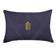 Bandhini Homewear Design Lumber Cushion Navy / Primitive / 22 x 22 Amulet Cairo Navy Lumber Cushion 35 x 53 cm