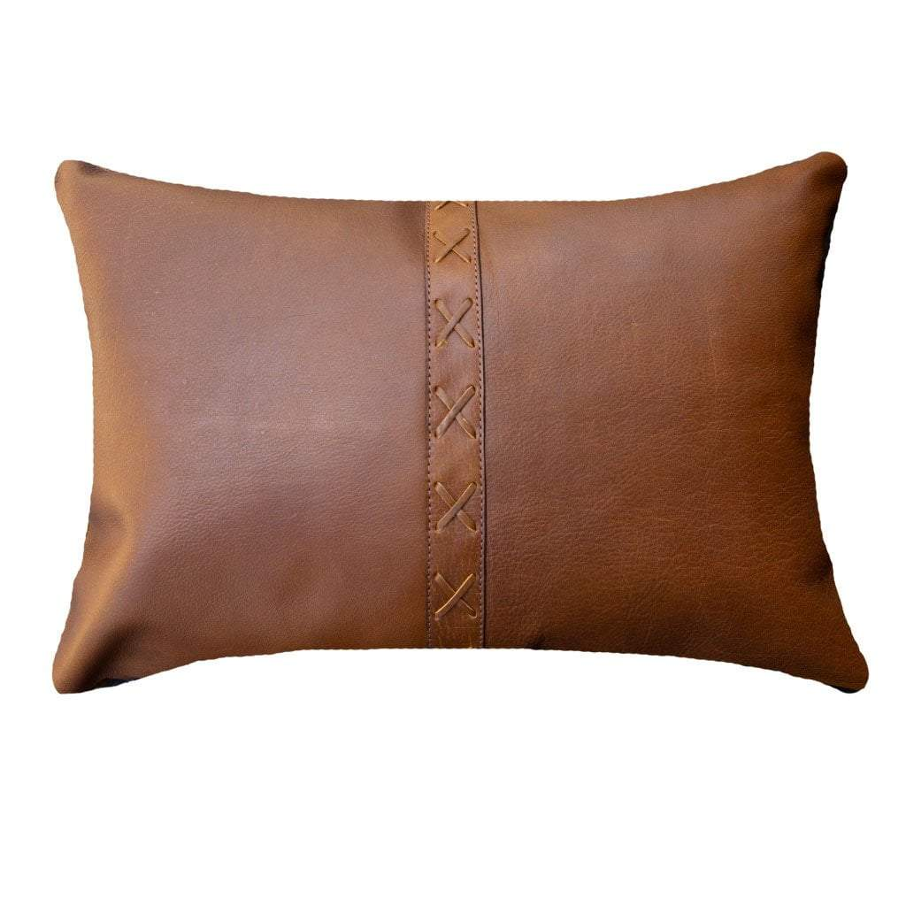 Bandhini Homewear Design Lumber Cushion Tan / Primitive / 30 x 21 Leather Cross Stitch Tan Lumber 35 x 53 cm