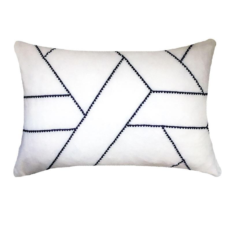 Bandhini Homewear Design Lumber Cushion White / 14 x 21 Dot March White Lumber Cushion