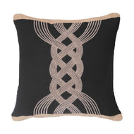 Bandhini Homewear Design Medium Cushion Black / Primitive / 19 x 19 Knot Black Medium Cushion 50 x 50 cm