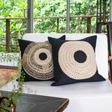 Bandhini Homewear Design Medium Cushion Black / 20 x 20 African Armour Black Medium Cushion 50 x 50cm