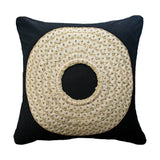 Bandhini Homewear Design Medium Cushion Black / 20 x 20 African Badge Black Medium Cushion 50 x 50 cm