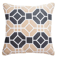 Bandhini Homewear Design Medium Cushion Black / 20 x 20 Outdoor Pagoda Beige Medium Cushion 50 x 50 cm