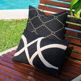 Bandhini Homewear Design Medium Cushion Black & Beige / 20 x 20 Outdoor Dots Black & Beige Medium Cushion 50 x 50 cm