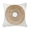 Bandhini Homewear Design Medium Cushion Earth Beige / Surf Tribe / 20 x 20 African Shield Natural Medium Cushion 50x50cm