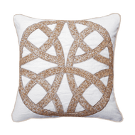 Bandhini Homewear Design Medium Cushion Natural / Exotic Light / 18 x 18 Chanel Natural Medium Cushion 50x50cm