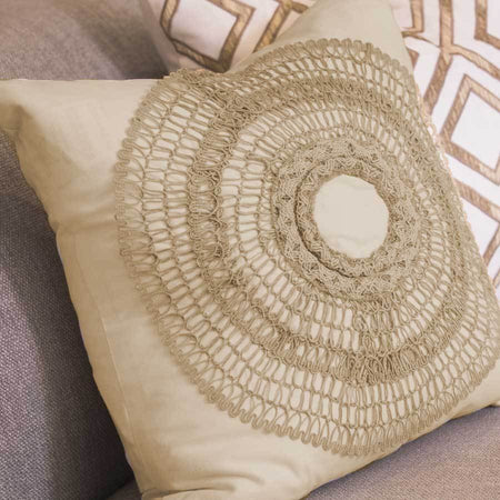 Bandhini Homewear Design Medium Cushion Natural / 20 x 20 African Armour Natural Medium Cushion 50x50cm